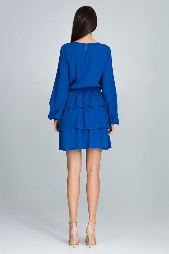 Leopardo rašto suknelė ant vienos petnešėlės