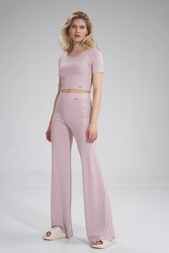 Leopardo rašto suknelė ant vienos petnešėlės_61473