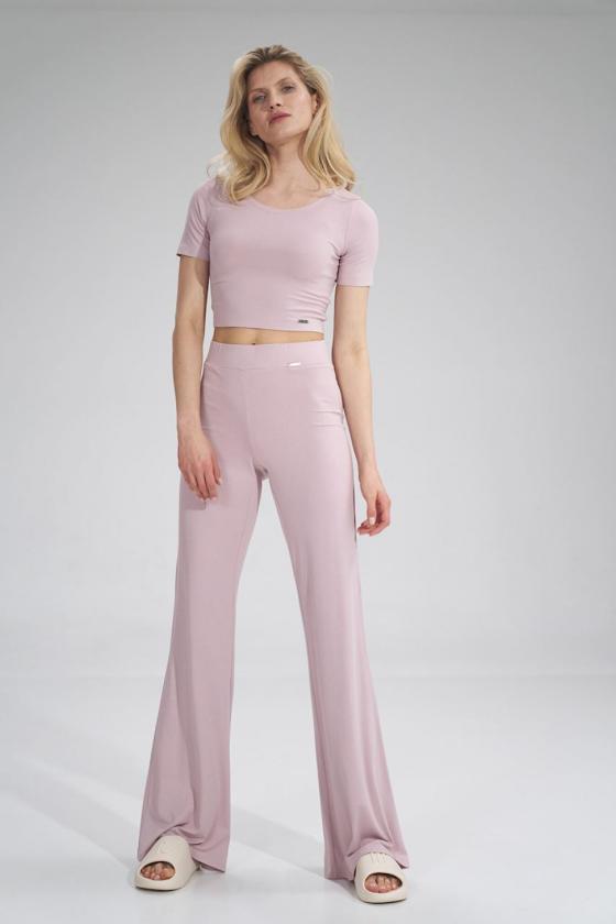 Leopardo rašto suknelė ant vienos petnešėlės_61474