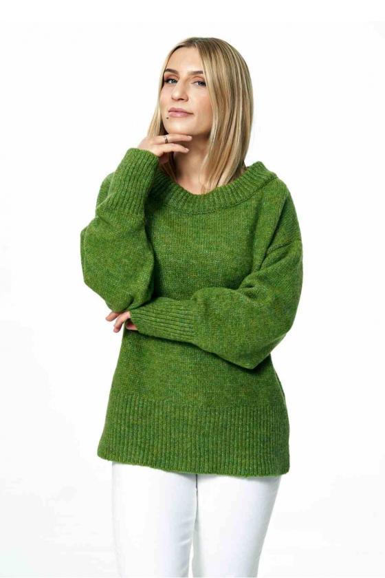 Ilga leopardo rašto suknelė atvirais pečiais_61704
