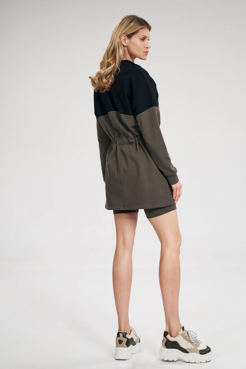 Juoda ilga proginė suknelė su šleifu_61857