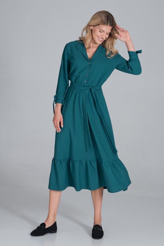 Balta ilga proginė suknelė dekoruota blizgias kristalais_61868