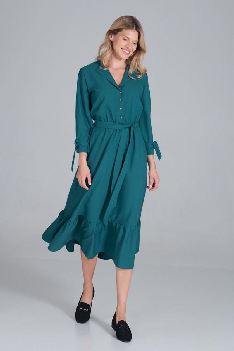 Balta ilga proginė suknelė dekoruota blizgias kristalais_61869