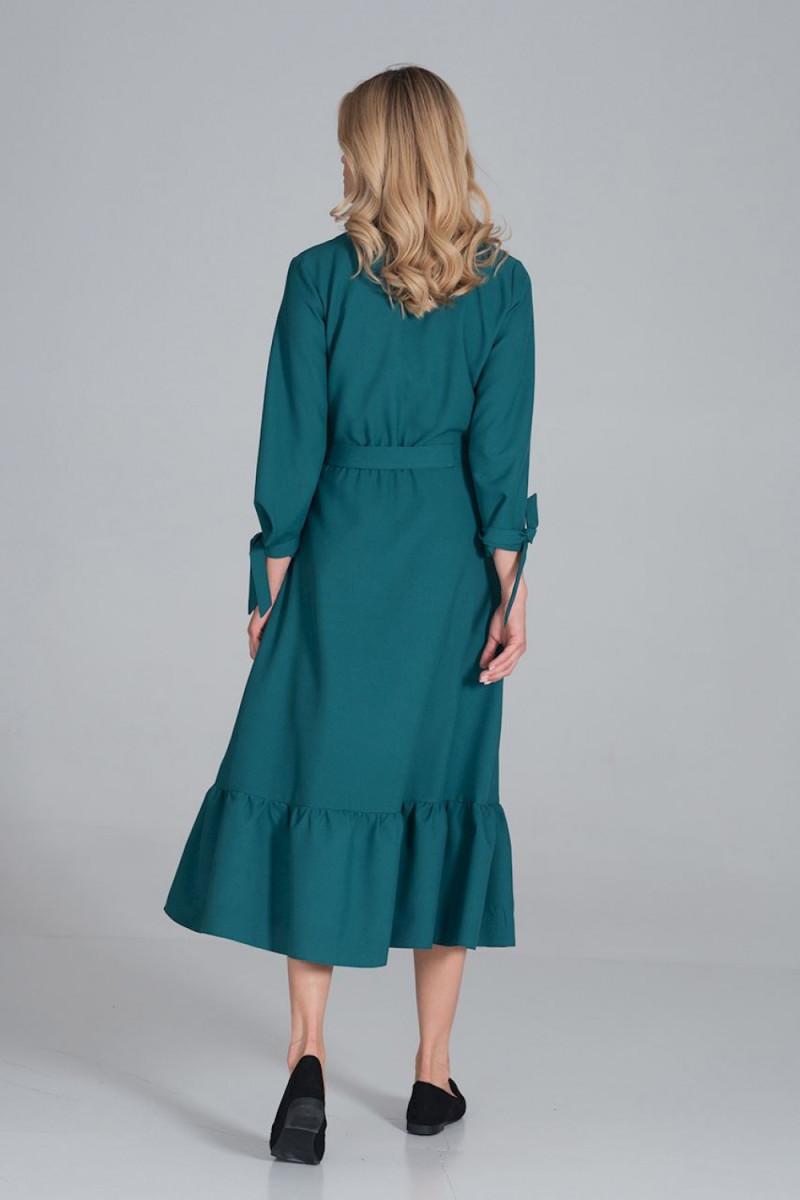 Balta ilga proginė suknelė dekoruota blizgias kristalais_61870