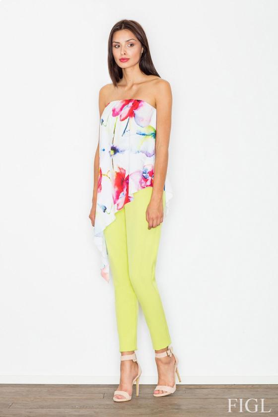 Balta ilga puošni gipiūrinė suknelė