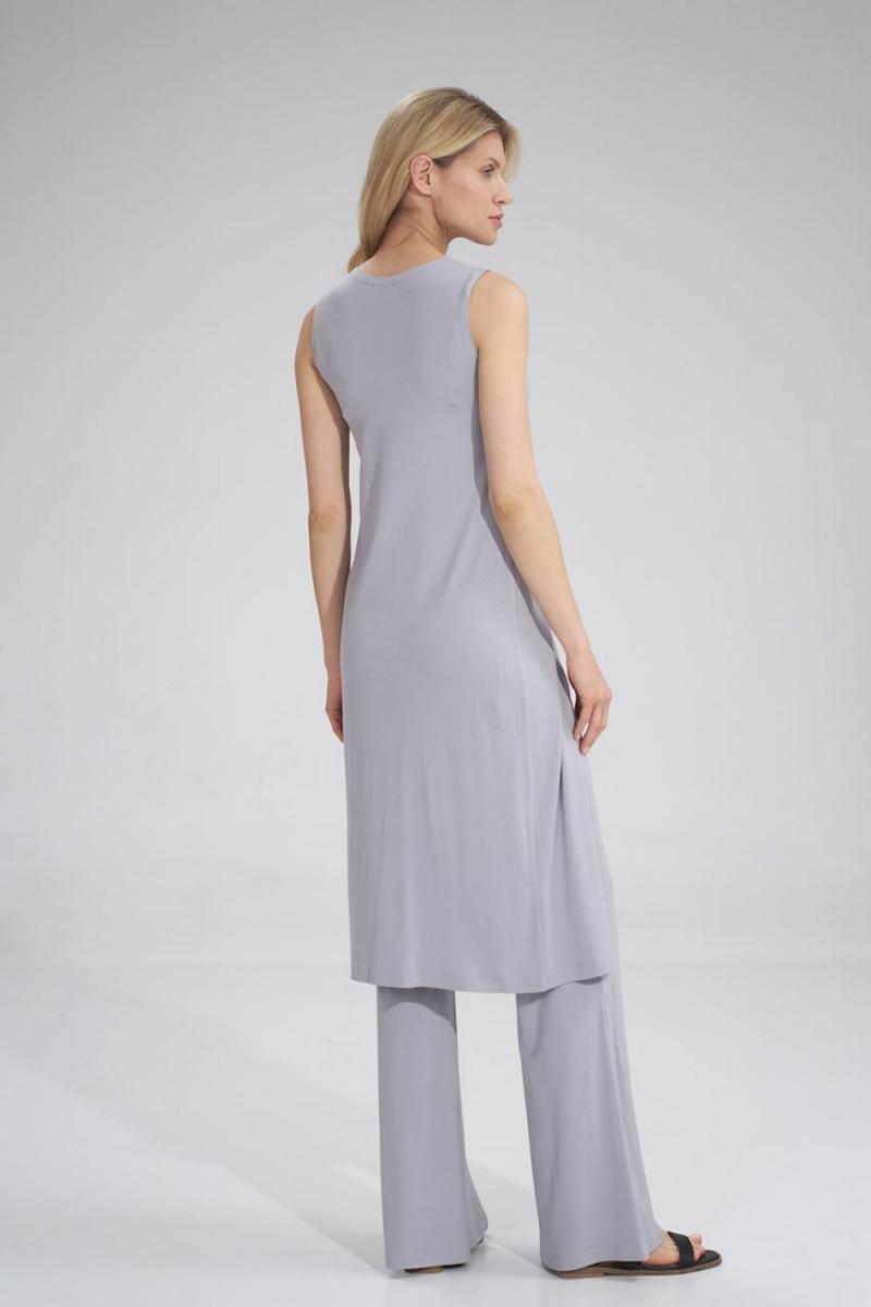 Juoda ilga suknelė dekoruota perliukais_61892