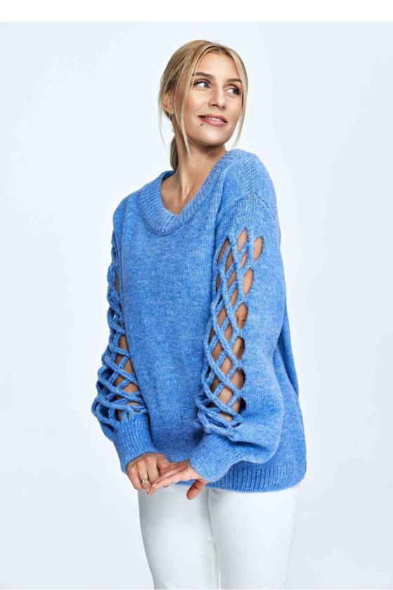Maxi ilgio rausva suknelė dekoruota gėlių motyvais