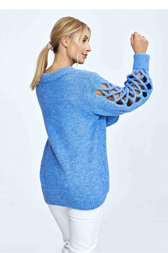 Maxi ilgio rausva suknelė dekoruota gėlių motyvais_62041