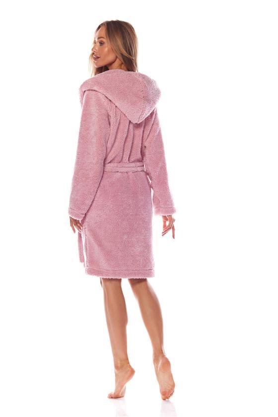 Chaki spalvos raukiniuota suknelė ilgomis rankovėmis_62106
