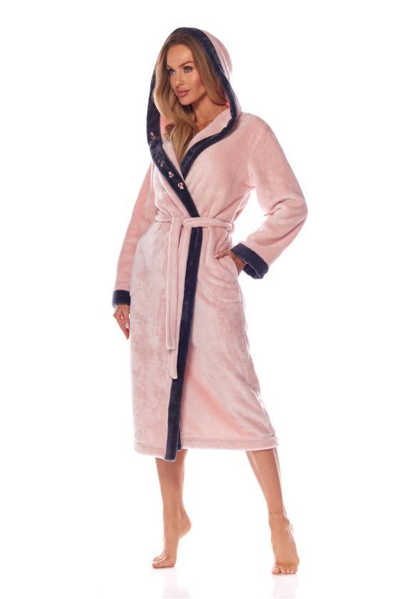 Chaki spalvos raukiniuota suknelė ilgomis rankovėmis_62107