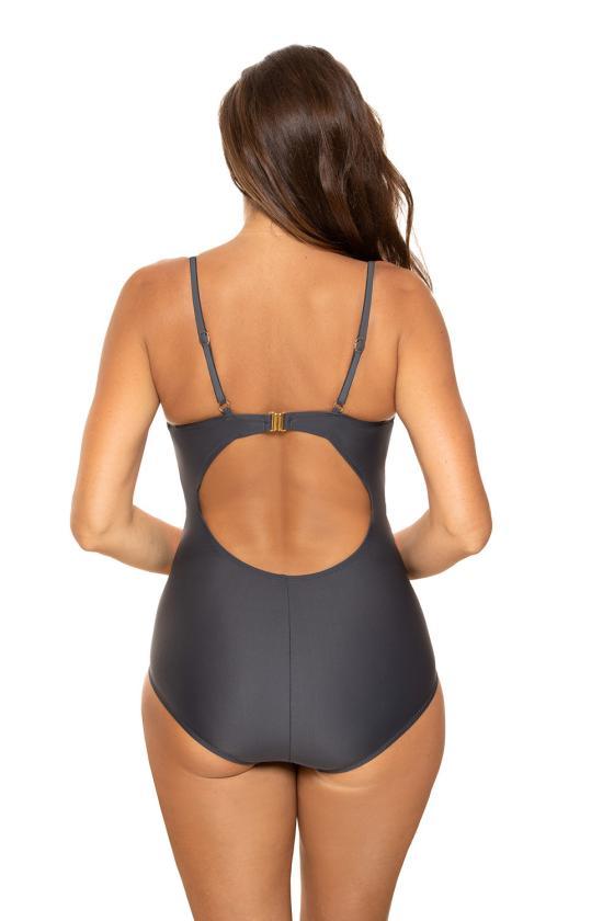 Ilga alyvų spalvos satino imitacijos suknelė atvira nugara_62214