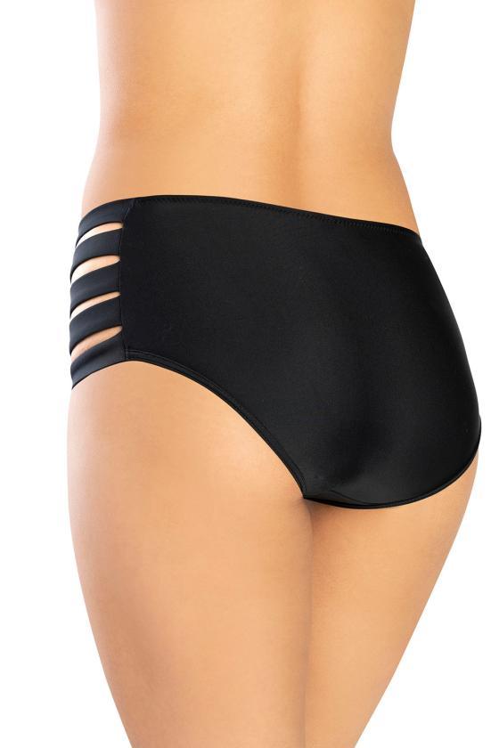 Elastinga mėlynos spalvos suknelė dekoruota sagomis_62273
