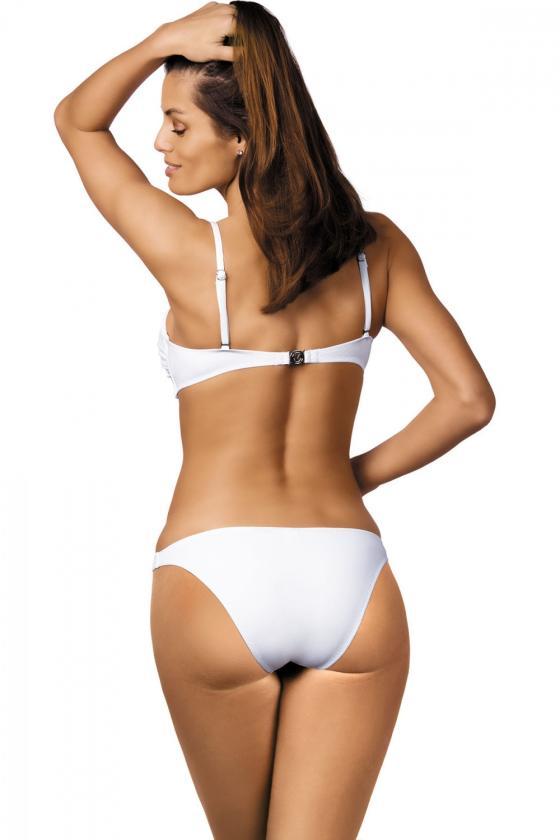 Elastinga neoninės rožinės spalvos suknelė dekoruota sagomis