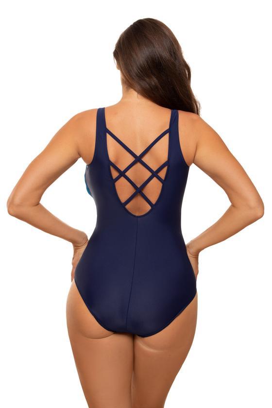 Elastinga alyvų spalvos suknelė dekoruota sagomis_62302