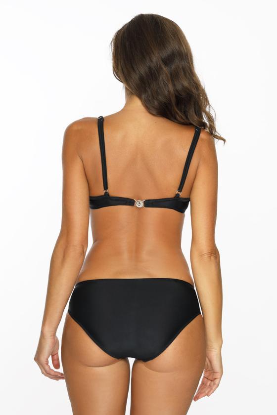 Elastinga juodos spalvos suknelė dekoruota sagomis_62316