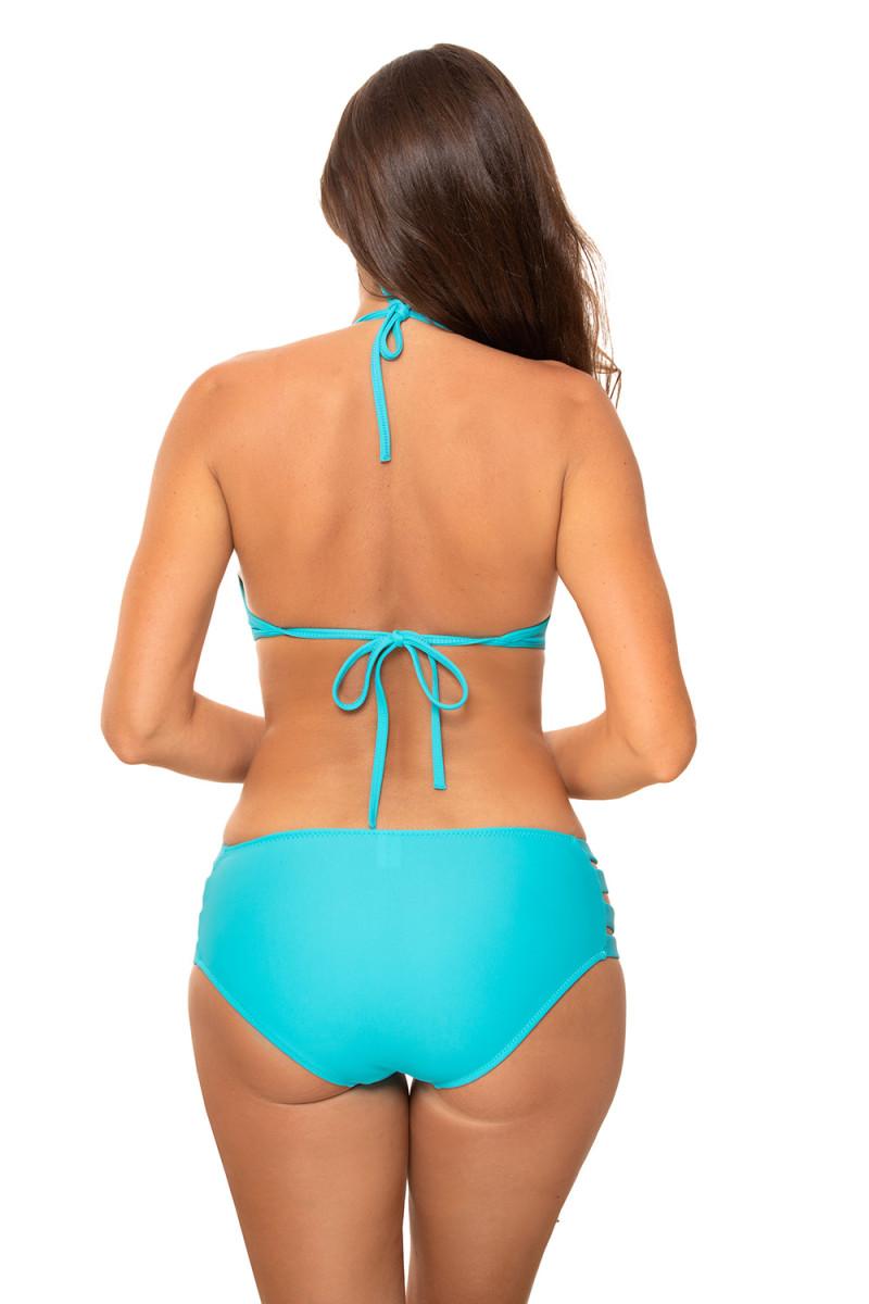 Elastinga kapučino spalvos suknelė dekoruota sagomis_62322