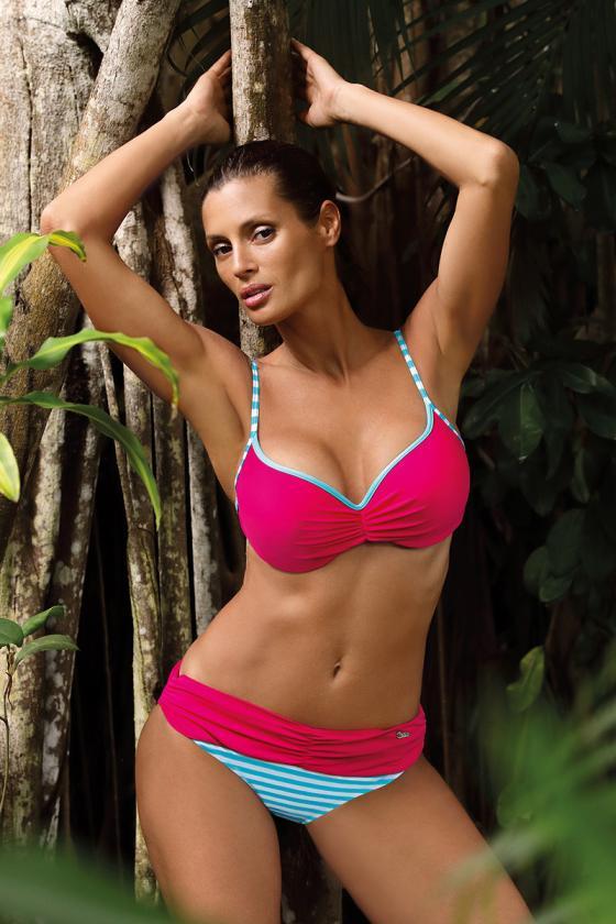 """Neoniniai rožiniai marškinėliai trumpomis rankovėmis """"Kiss""""_62389"""