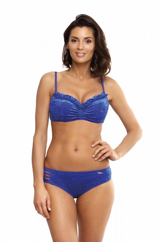"""Mėlyna plisuota suknelė su dirželiu """"Lila"""""""