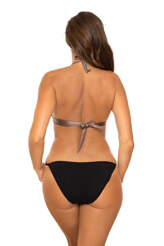 Pilka padidinto modelio suknelė su gobtuvu_62539