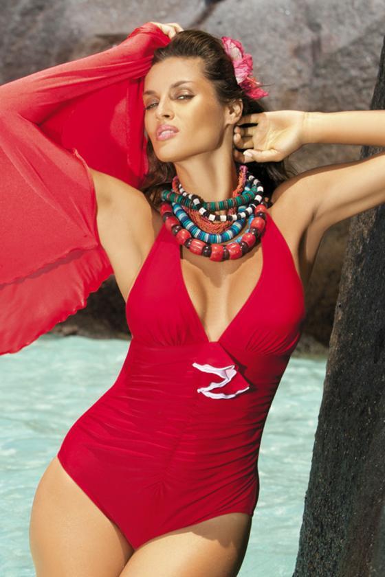Raudonos spalvos laisvalaikio komplektas su oversize palaidine_62639