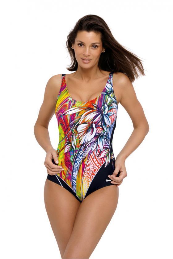 Medvilninė juodos spalvos laisvalaikio suknelė_62803
