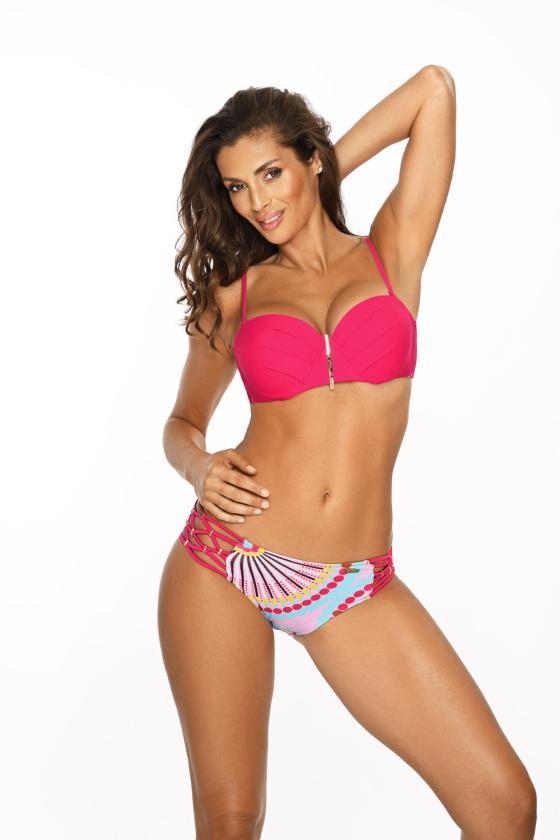 Elastinga neoninės geltonos spalvos suknelė dekoruota sagomis_62817