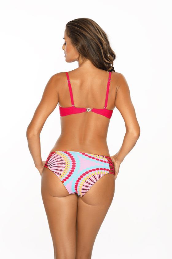 Elastinga neoninės geltonos spalvos suknelė dekoruota sagomis