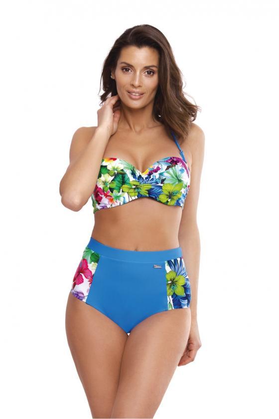 Juodas maudymosi kostiumėlis su auksiniais raštais_62827