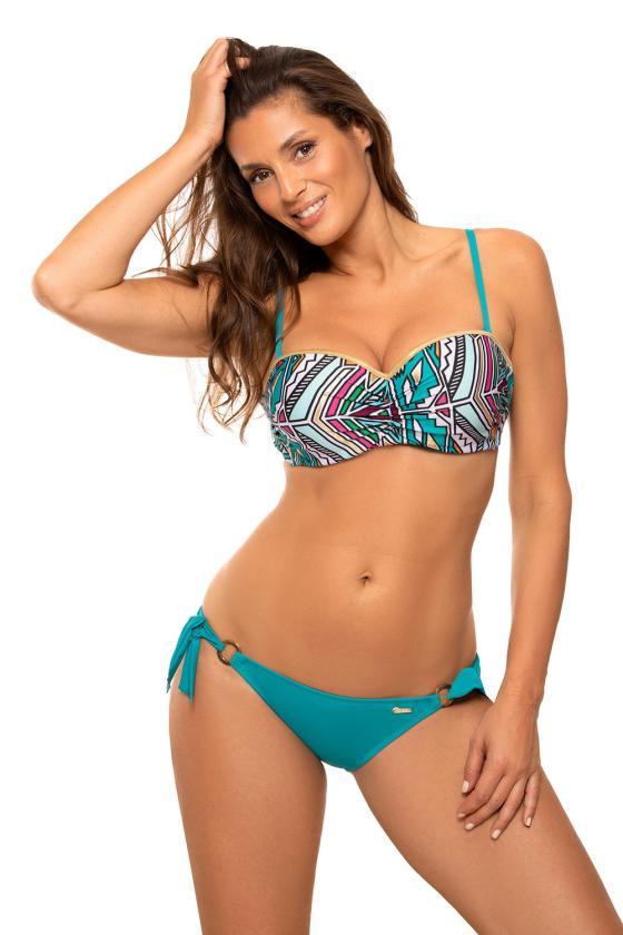 Dailus violetinės spalvos komplektas su leopardo raštu