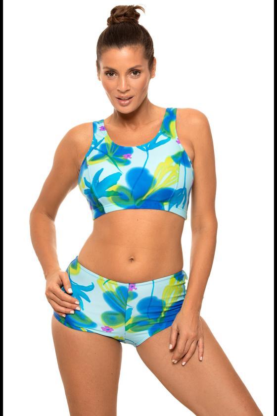 Žalia padidinto modelio suknelė su gobtuvu_62877