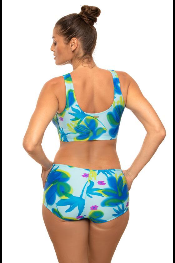 Žalia padidinto modelio suknelė su gobtuvu_62878