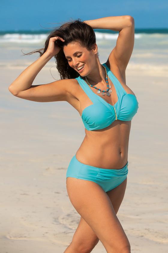 """Mėlyna """"skater"""" stiliaus suknelė su širdies formos iškirpte"""