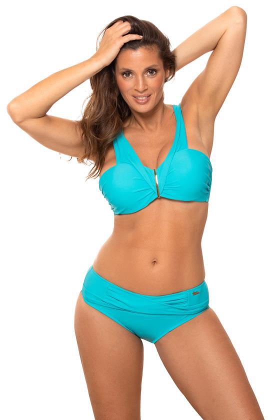 """Mėlyna """"skater"""" stiliaus suknelė su širdies formos iškirpte_62902"""