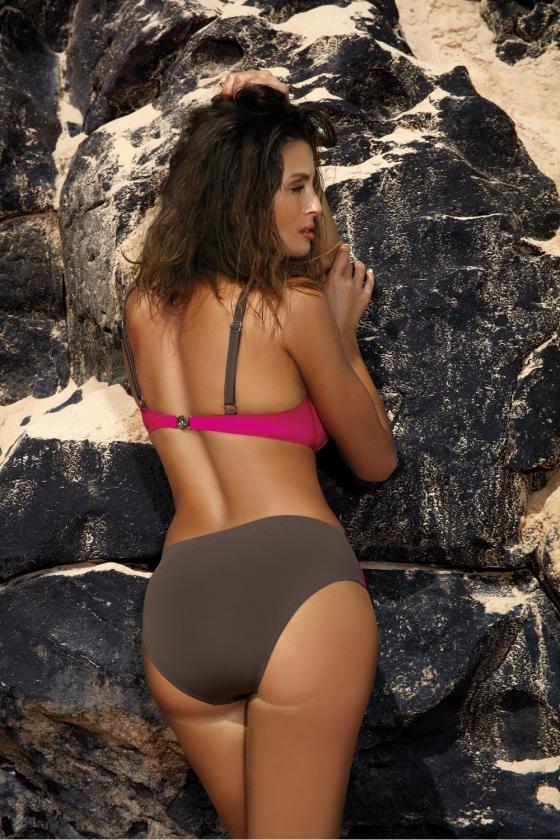 Tamsiai mėlyna peplum stiliaus asimetriška suknelė_62938