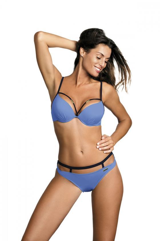 Įspūdinga alyvų spalvos suknelė gipiūrinėmis rankovėmis_62973