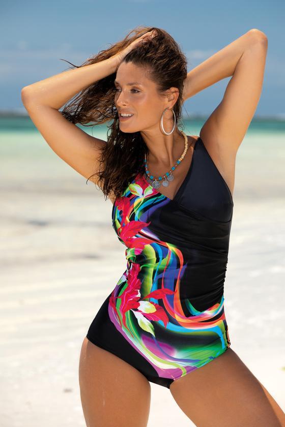 Elegantiška žalios suknelė su V formos iškirpte_62994