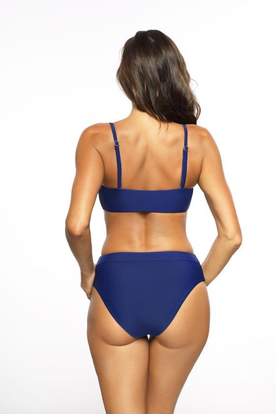 Elegantiška bordinė suknelė su dirželiu
