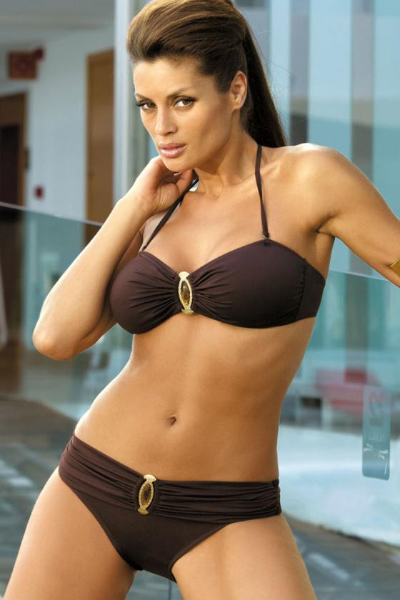 Elegantiška bordinė suknelė su dirželiu_63010