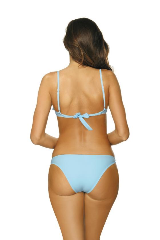 Rožinis maudymosi kostiumėlis su tinklelio detalėmis_63186