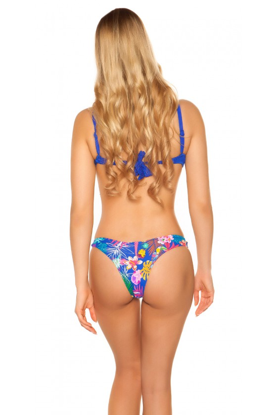 Mėlynas bikinis su braziliško stiliaus kelnaitėmis_63253