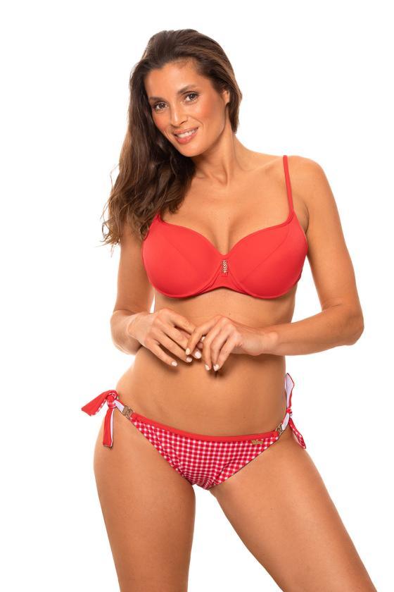 Daili pilka suknelė su užrašais ir iškirpte nugaroje