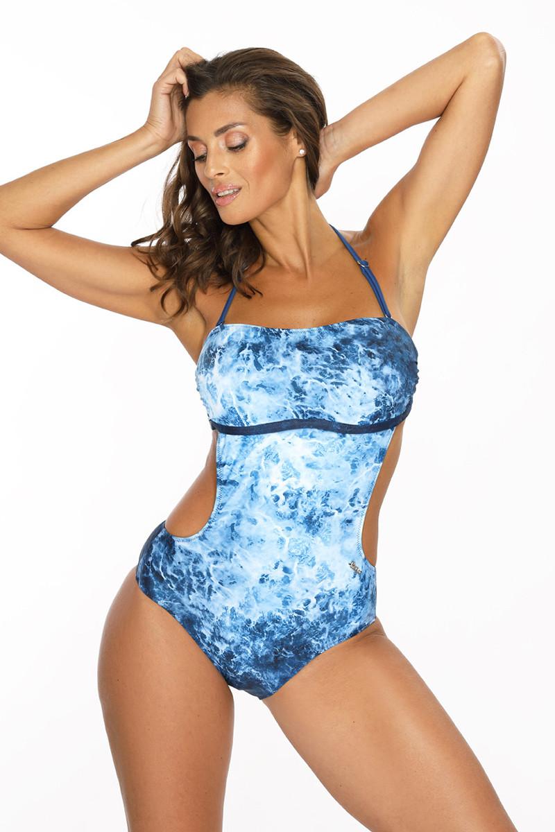 Daili neoninė rožinė suknelė su užrašais ir iškirpte nugaroje_63696