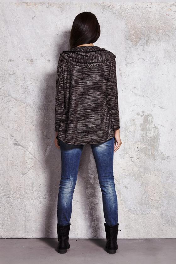 Stilingas kardiganas su orandžinės spalvos juostomis_85079